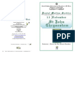 2012 -13 Nov -St John Chrysostom - Festal Matins Service