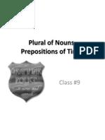 Class 9 Plural Preposition