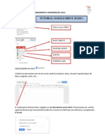 TUTORIAL GOOGLE DOCS bàsic