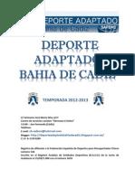 Memoria 2012-2013 DEPORTE ADAPTADO BAHIA DE CADIZ
