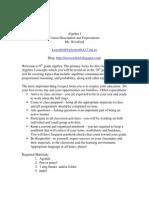 Algebra Basic Syllabus