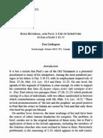 Paul's Use of Scripture - Gal 3.10-13