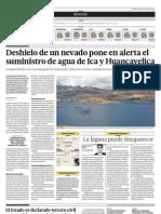 Deshielo en Un Nevado Pone en Alerta El Sumunistro de Agua de Ica y Huancavelica