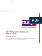 Dulye Co. Workplace Trends Results Report