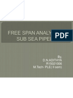 Free Span Analysis of Sub Sea Pipelines