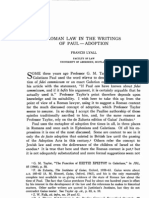 Roman Law in the Writings of Paul - Adoption