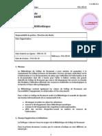 Politique Bibliotheque CollegeRosemont