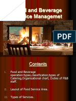 Food and Beverage Service Management