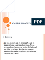 Vocabulario Tecnico Lorena