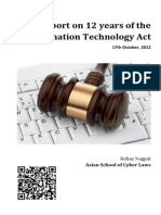 Report on 12 years of the Information Technology Act
