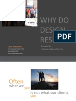Why do design research?