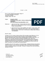 R281882-A - San Onofre Nuclear Generating Station, Unit 2 - Confirmatory Action Letter - Actions to Address Steam Generator Tube Degradation.