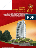 Auditor General's Report 2011 - Synopsis (English)