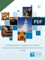 U.S. Religious Landscape Survey June 2008