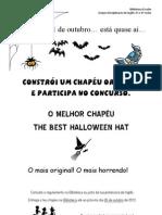 cartaz concurso de chapéus Halloween