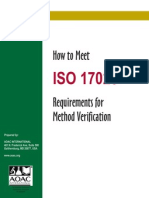 How to Meet ISO 17025 Requirements for Method Verification