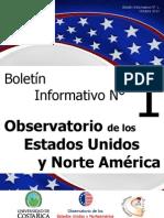 Boletín Nº 1 Observatorio de los Estados Unidos