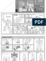 Transformers 20th Anniversary Optimus Prime Instruction