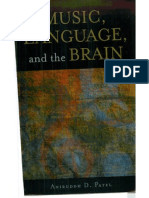 0690109 CA0D8 Patel Aniruddh d Music Language and the Brain