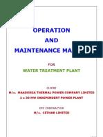 Mtpcl - Wtp o&m Manual