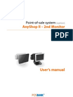 POSBank USA AnyShopII User's Manual 2nd-Monitor Option, Rev001