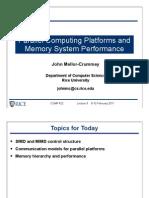 comp422-2011-Lecture9-ParallelPlatforms