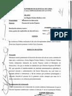 Sentencia del Expediente N° 55-2011, Primera Sala Superior (Exp. N° 522-2012 en Suprema)