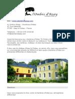 Azay Le Rideau - Chambre d'Hote a Lombre d'Azay