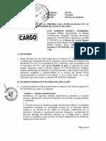 Recurso de Apelación contra sentencia de la Primera Sala Civil del Expediente N° 55-2011 (Exp. N° 522-2012 en Suprema)