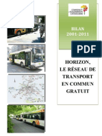 Bilan de la gratuité 2001-2011 à Châteauroux