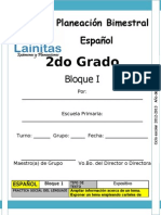 2do Grado - Bloque 1 - Español