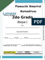 2do Grado - Bloque 1 - Matemáticas