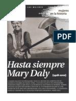MARY DALY 1928-2010 por Silvia Cuevas-Morales