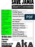 Save Jamia- Citizen's Convention on 18 October