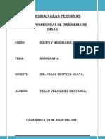 Equipo y Maquinaria Minera Monografia