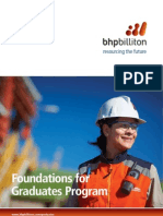 BHP Billiton Foundations for Graduates Program Brochure 2012