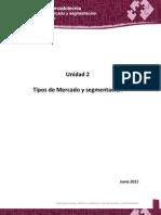 Unidad 2. Tipos de Mercado y Segmentacion