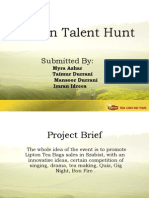 College Presentation - Lipton Talent Hunt1