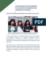 ESTUDIANTES EXPULSADAS DE LICEO DE NIÑAS DE CONCEPCION  VIAJAN HASTA VALPARAÍSO PARA DENUNCIAR SU SITUACIÓN