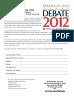 Debate Form Ratecard
