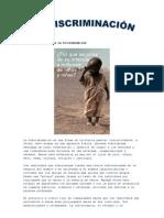 CONCEPTO Y CAUSAS DE LA DISCRIMINACIÓN