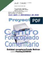 Proyecto de Fotocopiado COMUNITARIO1