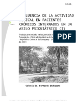 INFLUENCIA DE LA ACTIVIDAD MUSICAL EN PACIENTES CRÓNICOS INTERNADOS EN UN ASILO PSIQUIÁTRICO (I)