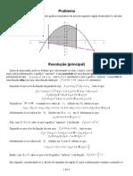 Área delimitada pelos gráficos de uma parábola e de uma reta, de x = -2 a x = 1 - solução