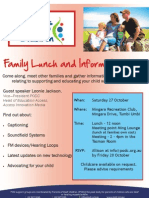 PODC  Family Lunch and Information Day