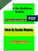 Curso de Guitarra Escalas Mayores Escalas Guitarra