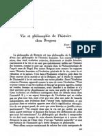 Hyppolite - Vie Et Philosophie de l'Histoire Chez Bergson