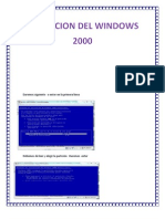 Instalacion de Windows 2000