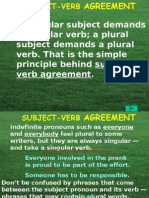 Subject Verb Agreement PowerPoint