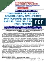 NP - CGTP Misa por la paz